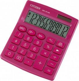 Kalkulator biurowy Citizen SDC-812, 12 cyfr, różowy
