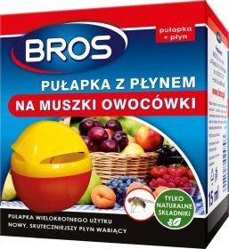 Pułapka z płynem na muszki owocówki Bros, 15ml
