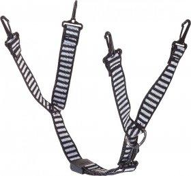Pasek podbródkowy MSA, 4 punktowy, czarno-biały