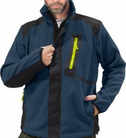 Bluza polarowa Reis Colorado, gramatura 430g, rozmiar XL, granatowo-czarny