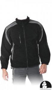 Bluza polarowa Leber&Hollman Flexer BS, gramatura 350g, rozmiar XXL, czarno-szary