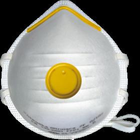 Półmaska filtrująca Reis MAS-F-FFP1V-ZF W UNI, z zaworkiem, 20 sztuk, biały