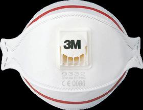Półmaska filtrująca 3M Aura, 3M-MAS-P3-9332 W, biały (c)