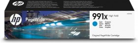Tusz HP 991X (M0J90AE), 16000 stron, 193ml, cyan (błękitny)