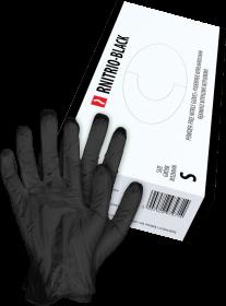 Rękawice nitrylowe Reis RNITRIO, rozmiar M, 100 sztuk, czarny