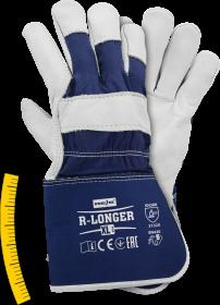 Rękawice wzmacniane Reis R-LONGER GW, rozmiar XL, biało-niebieski