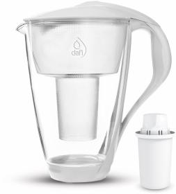 Dzbanek filtrujący Dafi Crystal Sensor LED, 2l, szklany, biały + 1 wkład Classic