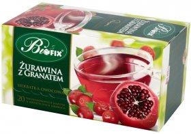 Herbatka owocowa w kopertach Bifix Premium, żurawina z granatem, 20 sztuk x 2g