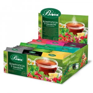 Zestaw herbat w kopertach Bifix, 9 smaków, 90 sztuk x 2g