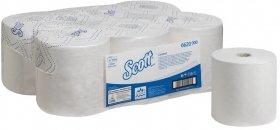 Ręcznik papierowy Scott Control, 1-warstwowy, 250m, w roli,  6 rolek , biały