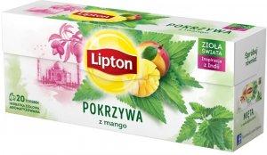 Herbata ziołowa w torebkach Lipton, pokrzywa z mango, 20 sztuk x 1.3g