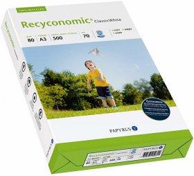 Papier ekologiczny ksero Papyrus Recyconomic, A3, 80g/m2, 500 arkuszy, biały