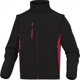 Bluza softshell Delta Plus Mysen2, rozmiar M, czarno-czerwony