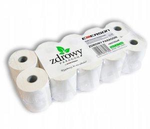 """Rolka papierowa termiczna """"Zdrowy Paragon"""", 57mm x 30m, 50+/-6g/m2, 10 sztuk"""