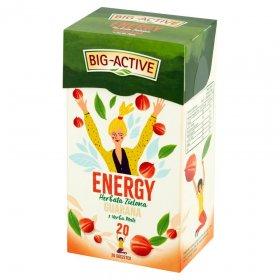 Herbata zielona w torebkach Big-Active, energy z guaraną, 20 sztukx1,5g