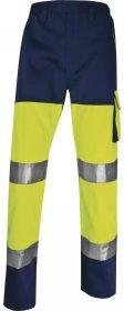 Spodnie odblaskowe Delta Plus Panostyle PHPA2,  gramatura 230g, rozmiar L, żółto-granatowy