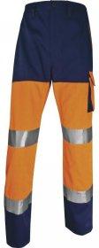 Spodnie odblaskowe Delta Plus Panostyle PHPA2,  gramatura 230g, rozmiar L, pomarańczowo-granatowy