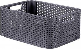 Koszyk Curver Rattan Style Box M, 18.5l, szary