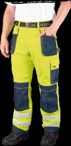 Spodnie odblaskowe do pasa Leber&Hollman Formen, rozmiar 58, żółto-granatowy