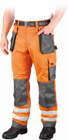 Spodnie odblaskowe do pasa Leber&Hollman Formen, rozmiar 52, pomarańczowo-szary