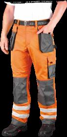Spodnie odblaskowe do pasa Leber&Hollman Formen, rozmiar 54, pomarańczowo-szary