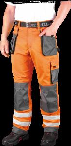 Spodnie odblaskowe do pasa Leber&Hollman Formen, rozmiar 58, pomarańczowo-szary