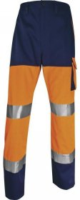 Spodnie odblaskowe Delta Plus Panostyle PHPA2,  gramatura 230g, rozmiar S, pomarańczowo-granatowy