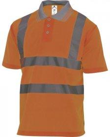 T-shirt polo odblaskowy Delta Plus Offshore, gramatura 160g, rozmiar M, pomarańczowy