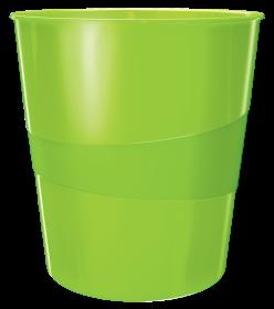 Kosz na śmieci Leitz WOW, 15L, zielony