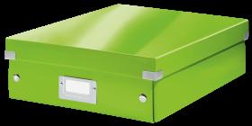 Pudło z przegródkami Leitz Click&Store Wow, średnie, zielony
