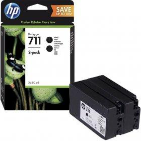 Zestaw dwóch tuszy HP 711 (P2V31A), 2 x 80ml, black (czarny)