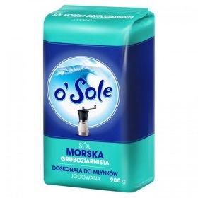 Sól morska jodowana o'Sole, gruboziarnista, 900g