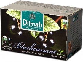 Herbata czarna aromatyzowana w kopertach Dilmah, czarna porzeczka, 20 sztuk x 2g