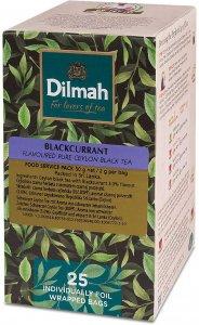 Herbata czarna aromatyzowana w kopertach Dilmah, czarna porzeczka, 25 sztuk x 2 g