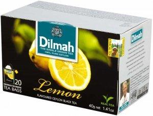 Herbata czarna aromatyzowana w kopertach Dilmah, cytryna, 20 sztuk x 2g