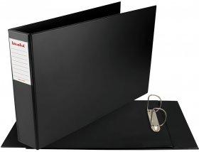 Segregator ringowy poziomy Biurfol, A3, szerokość grzbietu 70mm, do 500 kartek, czarny