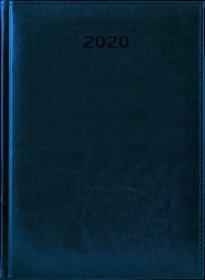 Kalendarz książkowy Udziałowiec 2020, Biznesowy, A4, dzienny, 184 kartki, granatowy