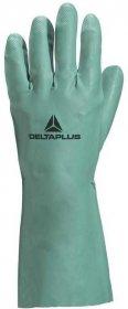 Rękawice nitrylowe Delta Plus Nitrex VE802, flokowane, rozmiar 8/9, zielony (c)