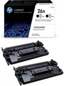 Zestaw tonerów HP 26X (CF226XD), 2x9000 stron, black (czarny)