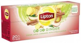 Herbata owocowa w torebkach Lipton Go Go Ginger, 20 sztuk x 1.6g