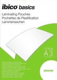 Folia do laminacji Ibico, 303x426mm, A3, 2x100 µm, 100 arkuszy