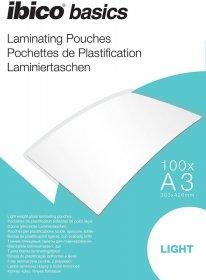 Folia do laminacji Ibico, 303x426mm, A3, 2x75 µm, 100 arkuszy