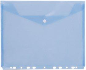 Teczka kopertowa D.Rect, A4, do segregatora, transparentny niebieski