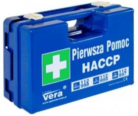 Apteczka przemysłowa Vera HACCP, z wyposażeniem, niebieski