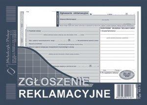 Druk akcydensowy Zgłoszenie reklamacyjne MiP, A5, 2 kopie, 39k