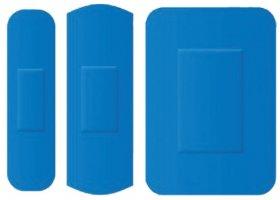 Zestaw plastrów wykrywalnych Prohaccp, mix 3 rozmiarów, 100 sztuk, niebieski