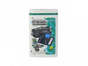 Chusteczki dezynfekcyjne Logo, na klawiaturę/telefon, w pudełku, 50 sztuk (c)