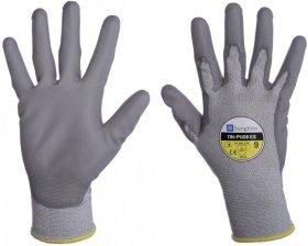 Rękawice powlekane Sungboo 11N-PU08 ES, antyelektrostatyczne, poliamid/włókno węglowe/PU, rozmiar 6, szary