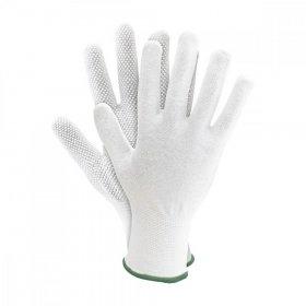 Rękawice tkaninowe Reis RMICRONYL, nakrapiane, rozmiar 8, biały