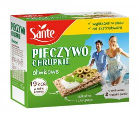 Pieczywo chrupkie Sante, oliwkowe, 150g